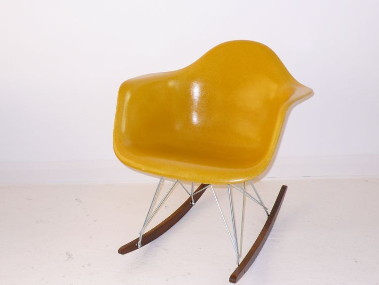 Eames rocking chair, midcentury furniture