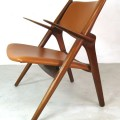 Hans Wegner CH28 Sawback chair, mid century chair