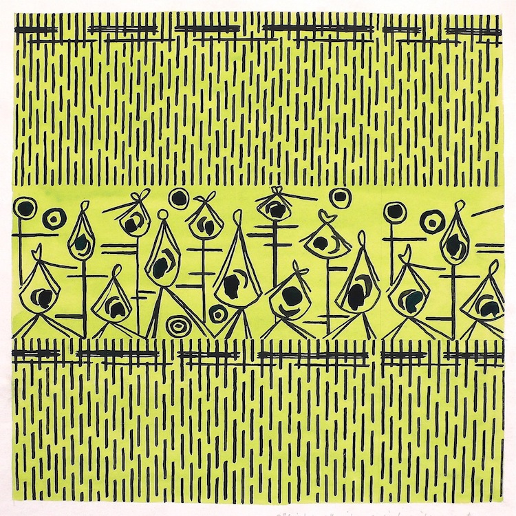 Sheila Bownas, mid century pattern, textile design