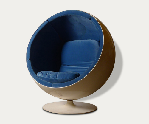 Modern auction, midcentury furniture, Eero Aarnio ball chair