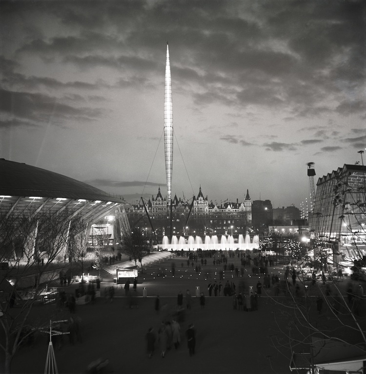 Festival of Britain, South Bank London, Skylon, 1951