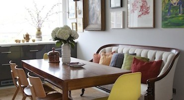 eclectic modern, vintage, mid century, dulwich estate, interior