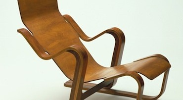 Isokon furniture, short chair, marcel breuer