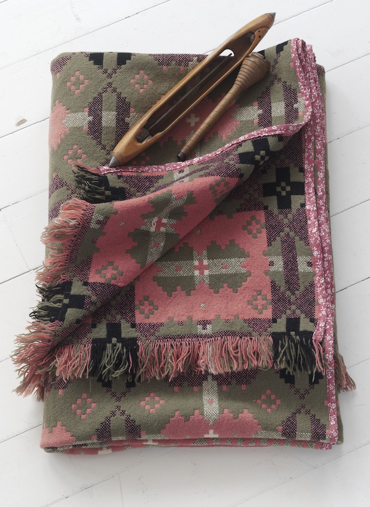 Welsh blanket, Blodwen, tapestry blanket, vintage textiles, Welsh craft