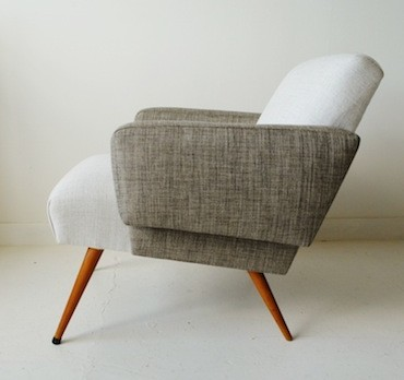 1950s French armchair, reupholstered in Zimmer & Rohde. From Osi Modern www.osimodern.com 370