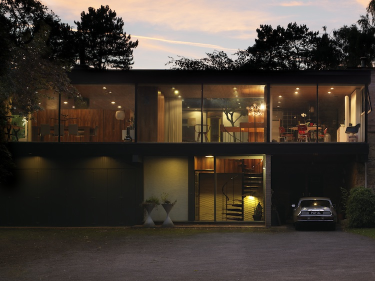 mid-century dream home, modernist architecture, David Shelley, Simon Siegel, Nottingham house
