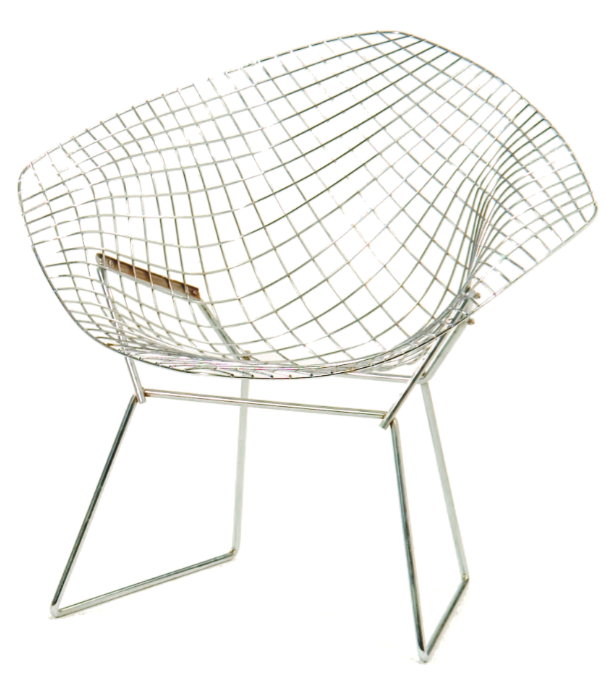 Knoll Bertoia Diamond Chair. Image David Rago, Freemanu0027s And Milleru0027s.