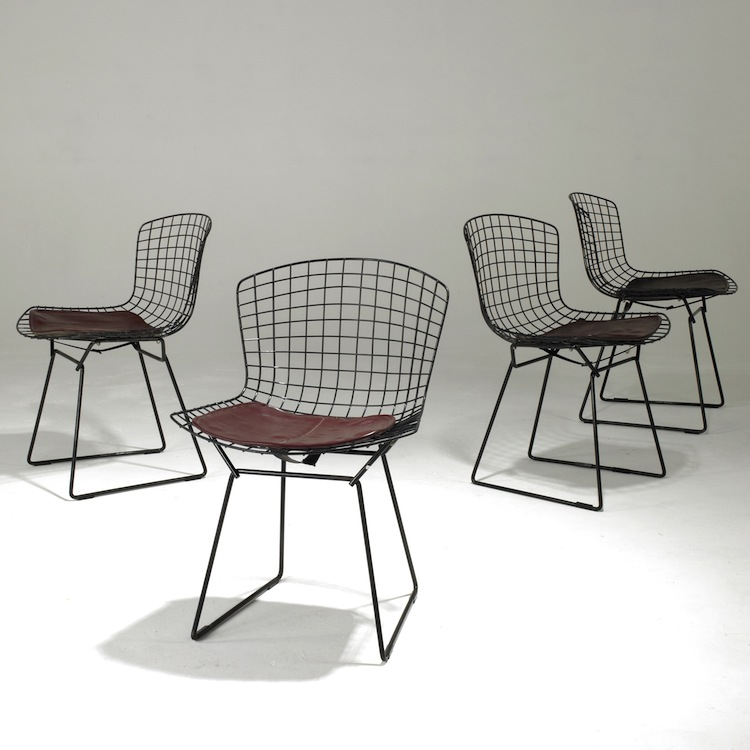 Harry Bertoia, Bertoia chair, Bertoia 420C chair, Bertoia side chair, Knoll International, mid century furniture, mid century chair