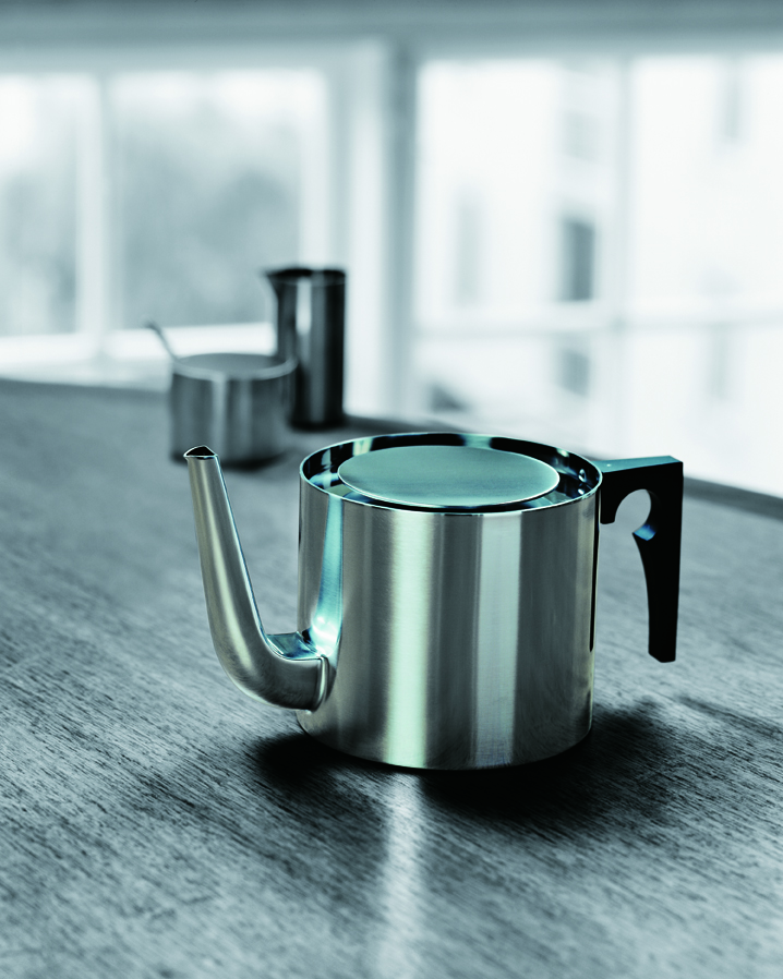Arne Jacobsen, Stelton, Cylinda-line, coffee pot, tea pot, Danish design, midcentury, Danish tableware