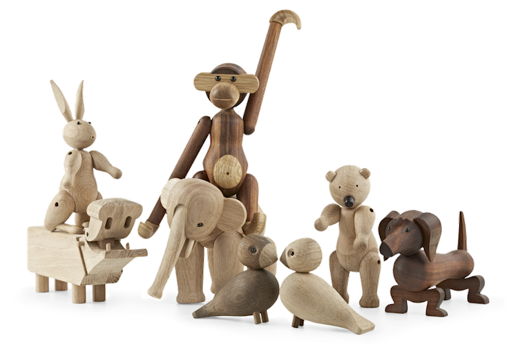 Kay Bojesen, monkey, animals, elephant,  hippo, bear, dog,  rabbit, danish design, Rosendahl, Kay Bojesen toys