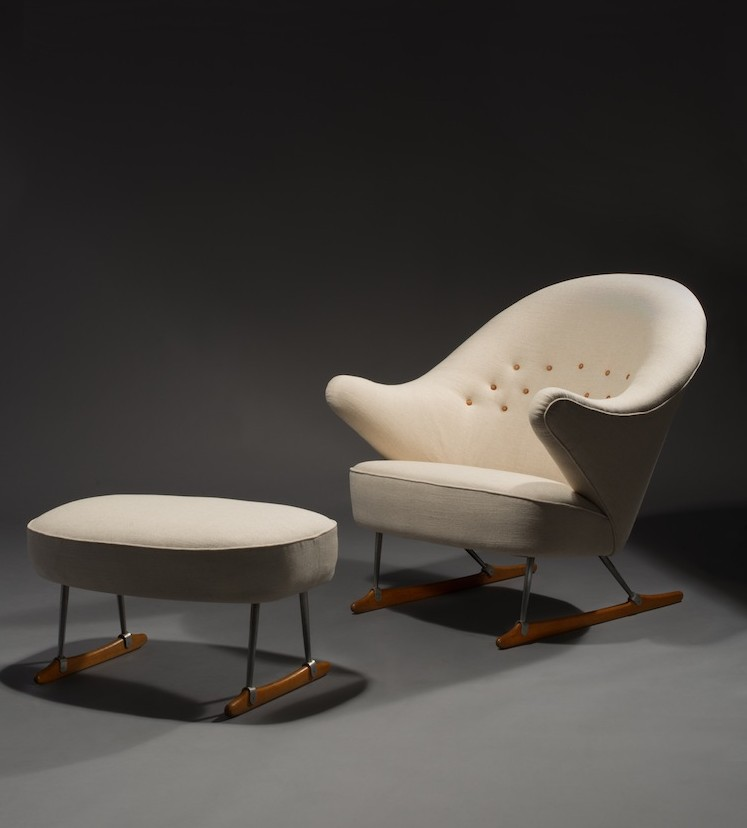 Sleigh chair, Børge Mogensen, Scandinavian furniture, Aldric Speer, Artcurial, Danish furniture, Danish design, mid century, modernism