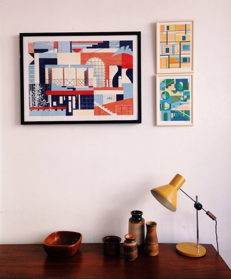 Daniel Clarke, Forest London,  modernist architecture, barbican, heygate estate, illustration