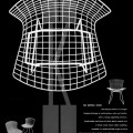 harry bertoia, celia bertoia, diamond chair, mid-century, Knoll,