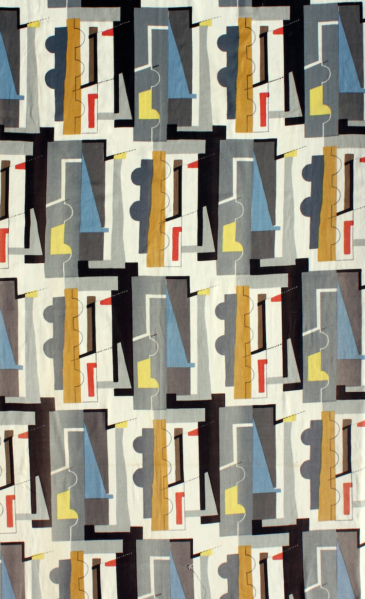Curator 39 s choice john piper 39 s abstract textile design for Modern fabrics textiles