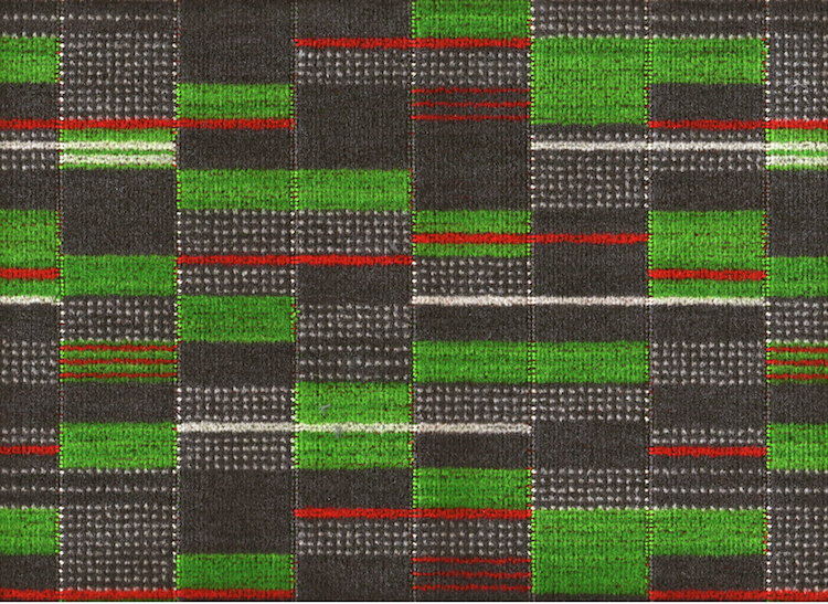 mid-century, midcentury, moquette, underground moquette, Wallace Sewell, Transport for London, Croydon Tram, design,