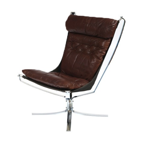Chrome High Back Falcon Chair